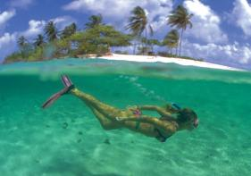Snorkeling in Grenada is only one of the many activities to enjoy while out on the water.
