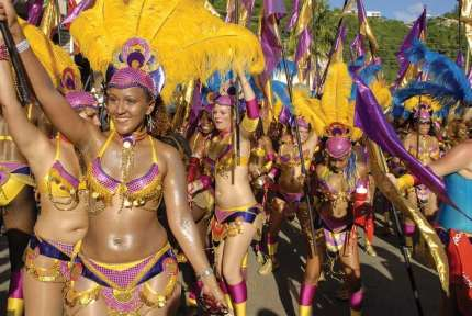 The carnival activities in Grenada begin in July, although they don't pick up until the beginning of August with nightly calypso shows. A week before the Grenada Carnival begins, the carnival queen show takes place with a parade through St. George's streets.
