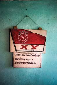 Socialist propaganada at a factory