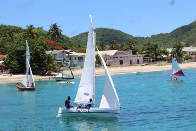 wooden sailboat from the Carriacou Regatta