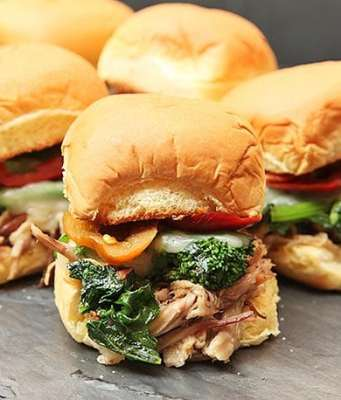 Pork Sliders, pork and broccoli rabe sliders, sliders, lunch, italian lunch