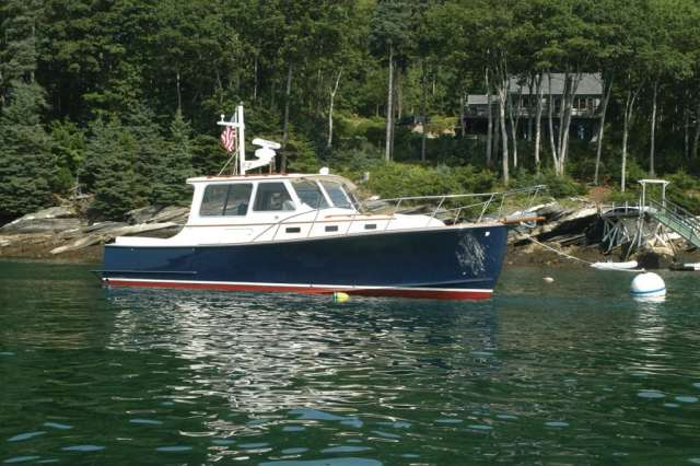 V32 Cruiser, Downeast Boats Roundup, Top Downeast boats, 16 Downeast boats, lobster boats, maine-style, high-end, heritage,