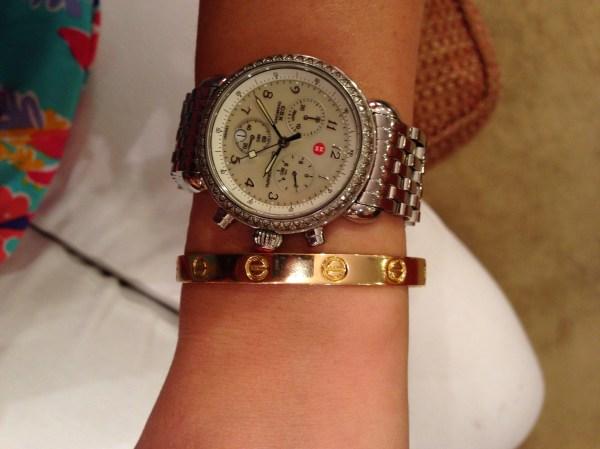 7a0858536269 Cartier Love Bracelet On Wrist. Cartier Love Bracelet On Wrist. Vintage  Cartier Love 18k White Gold ...