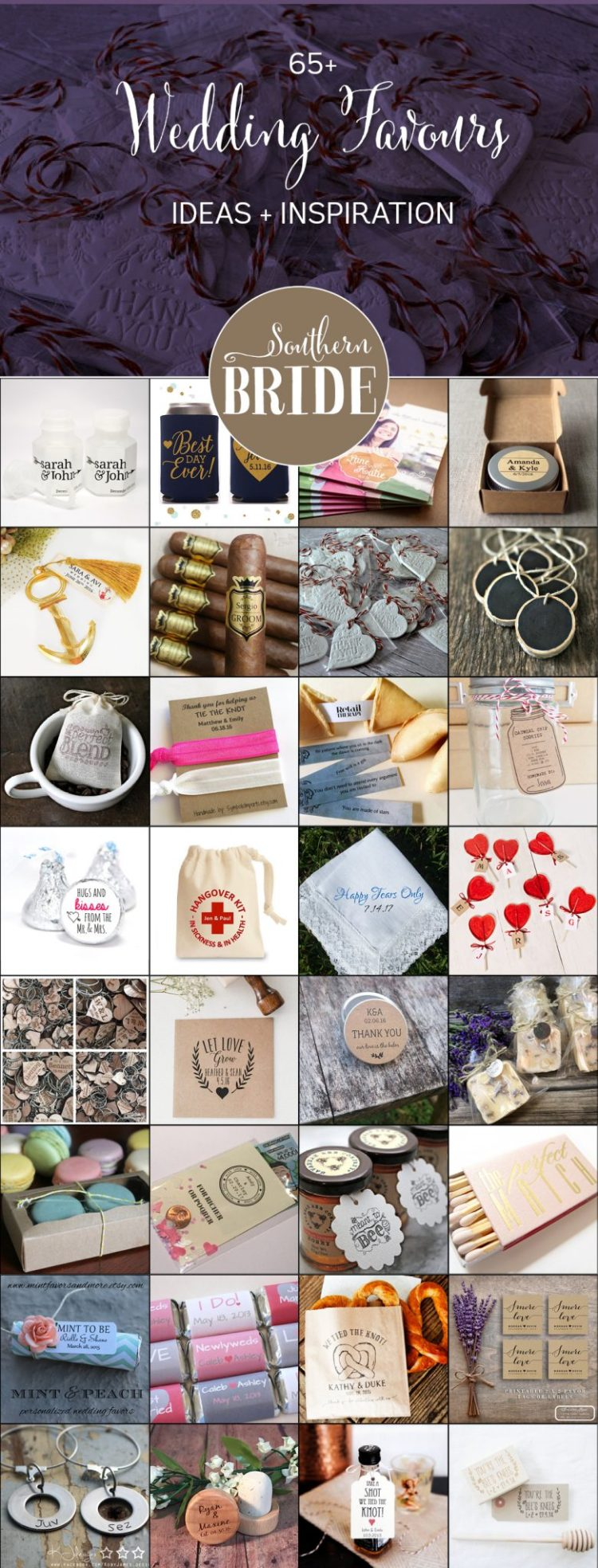 65 wedding favour ideas for your wedding nz