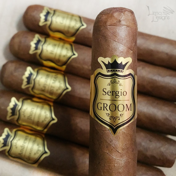 cigar sticker wedding favour