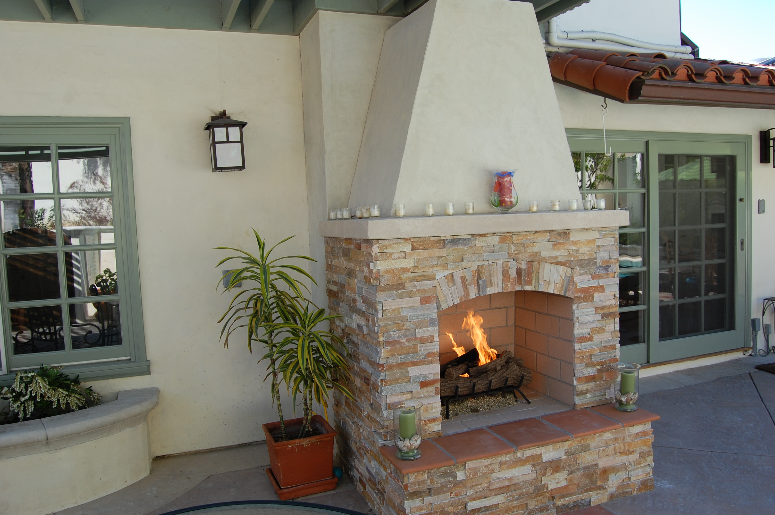 Fireplace Design  Custom Outdoor Fireplace  Portable