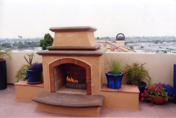 Spanish Style - Custom Fireplace Design In Orange County