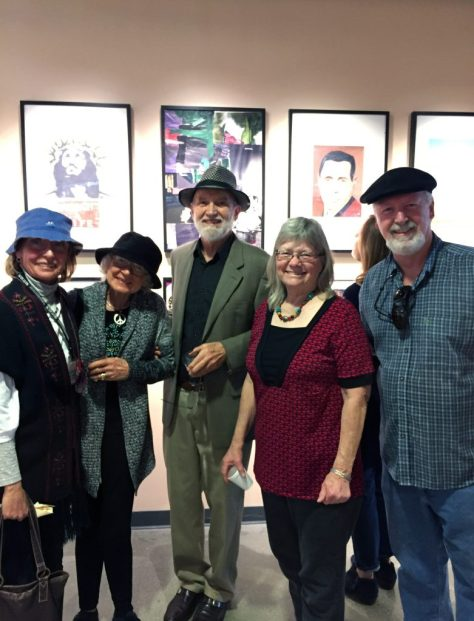 Southern California Artists Janet Adams, Ron Howlett, Sharon Kump and Ron Reekers at the RIBBA 4 Reception at Coastline Gallery in Costa Mesa