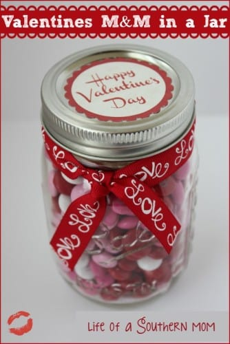 valentines m&ms in a jar