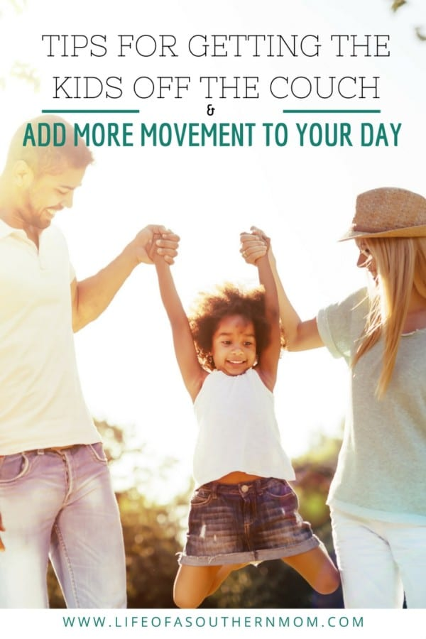 Get Your Kids off the Couch: Tips for adding more movement to your da