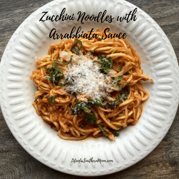 zucchini noodles with sauce