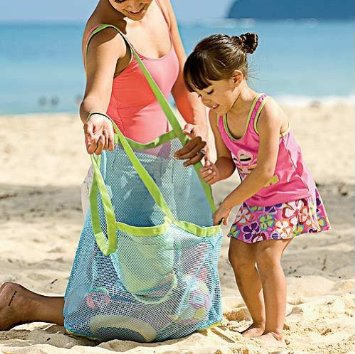 Mesh Beach Tote for Sand Toys $4.81 SHIPPED!