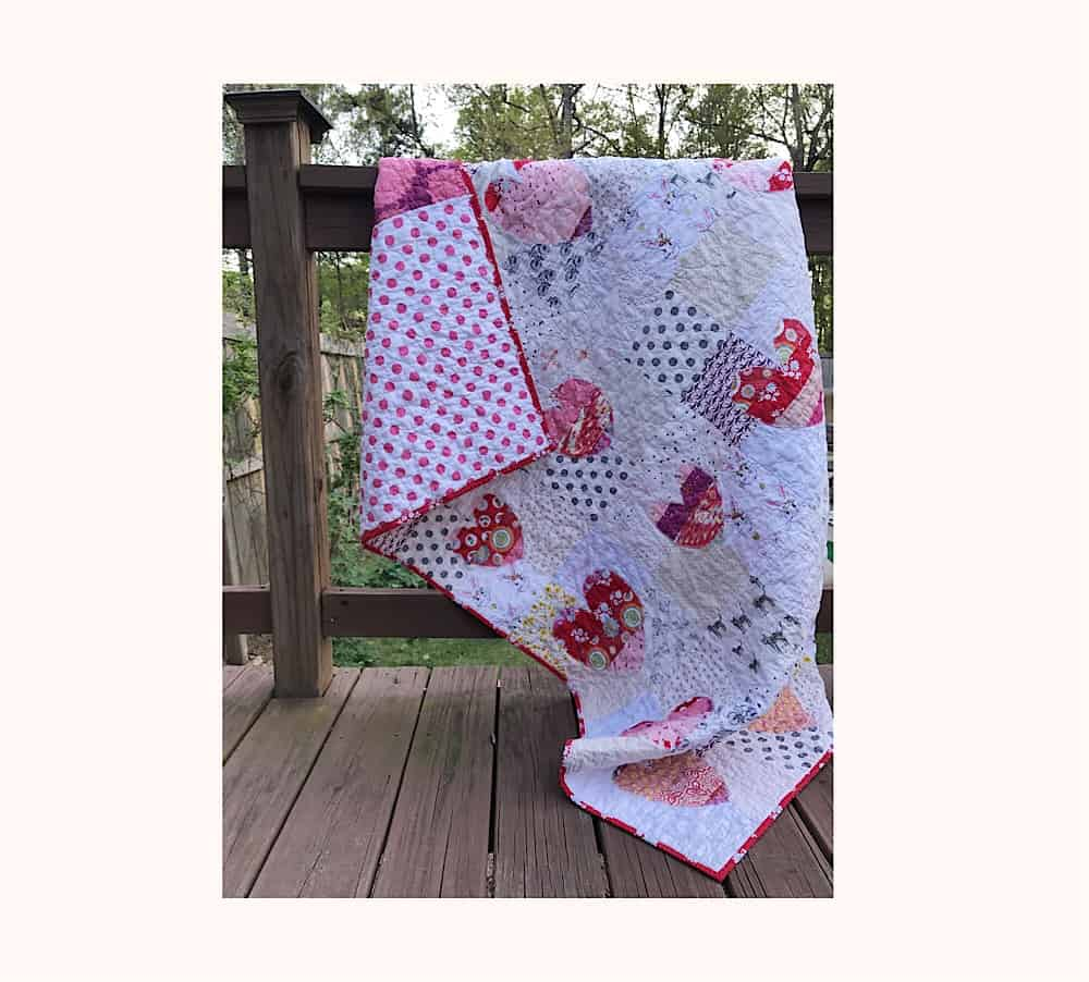 Quilt Reveal – Hand Cut Heart Quilt #6