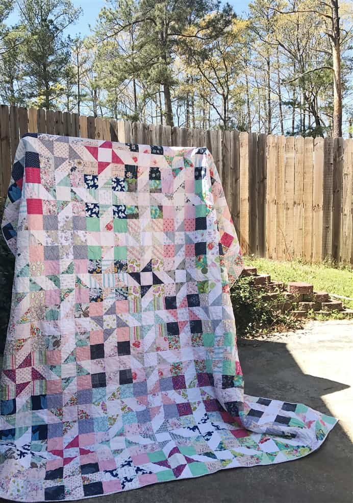 Quilt Finish – Star Dance Quilt
