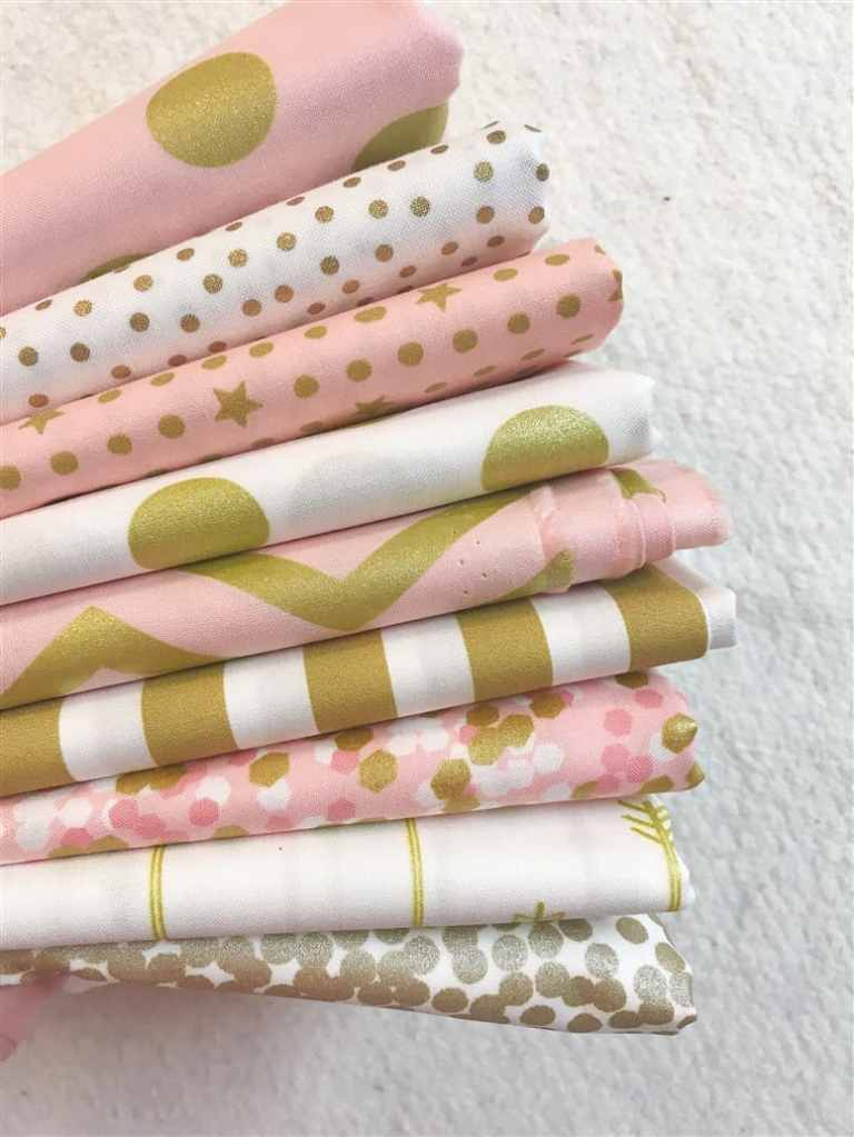 Monday is all About Fabric #8 – Blush and Gold