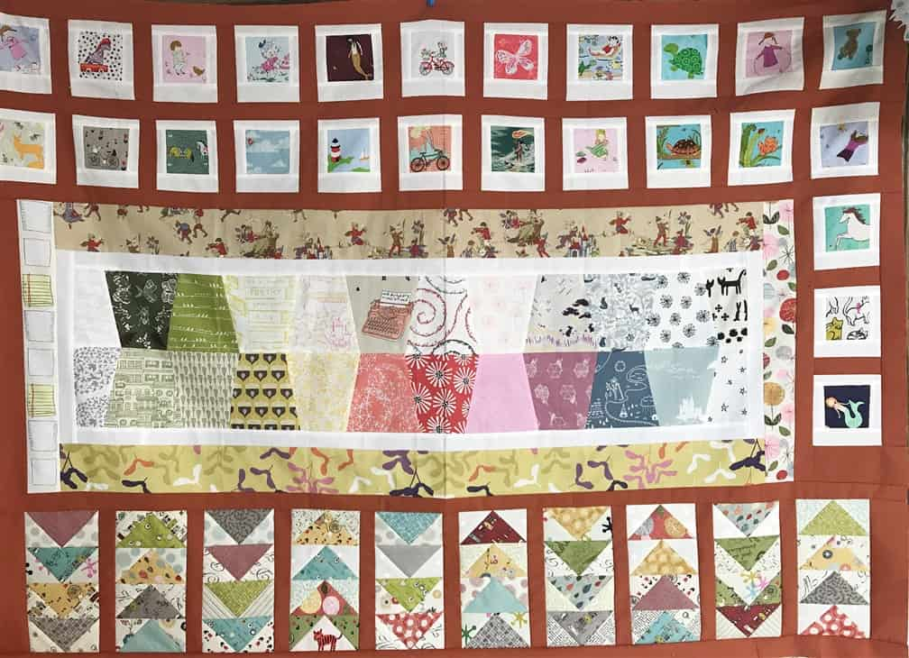 Wandering Quilt – Rebecca's Dandelion quilt + an update on my honey bee quilt