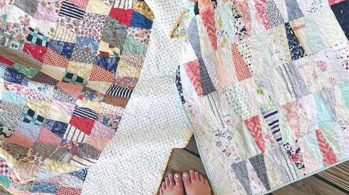 The Rescue Quilts – #3 – Old and New Tumbler quilts ( quilt reveal )