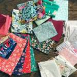 Monday is all about fabric – #50 – Shopping your own stash + a new Dresden quilt