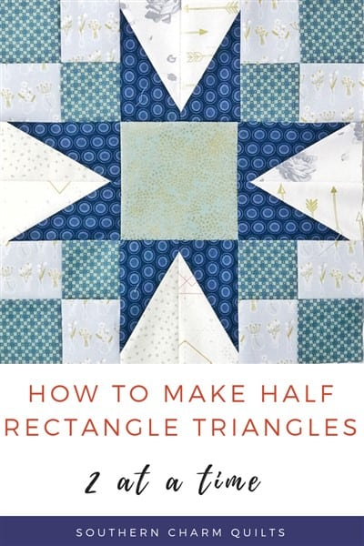 How to Make 2-at-a-time Half Rectangle Triangles for the Bad Girl quilt (video tutorial)