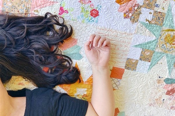 Quilt Reveal – Bad Girl #3 – The Orange One from the Quilt Along