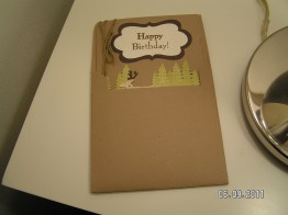 Masculine Card Fits Matching Envelope