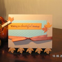 Bountiful Blessings ~ A Thanksgiving Card with Leaf Feet