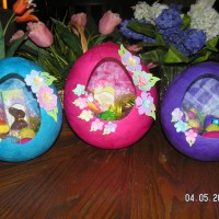 Papier-Mache Easter Egg Baskets