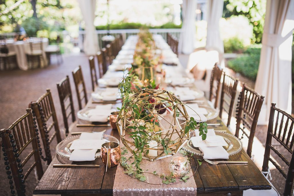 Chic Rose Gold Wedding at CJs Off The Square  Southern