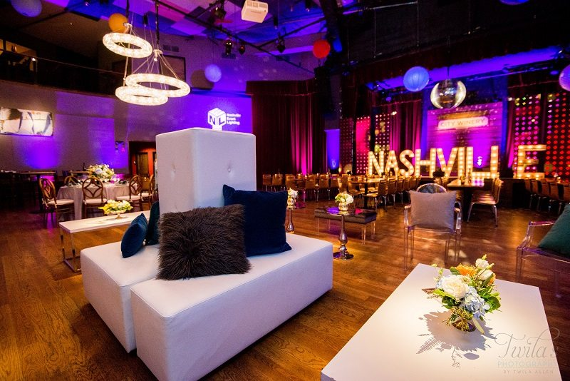 tables and chairs meaning bertoia chair pads sleek sophisticated corporate inspiration: open house at city winery - southern events party ...