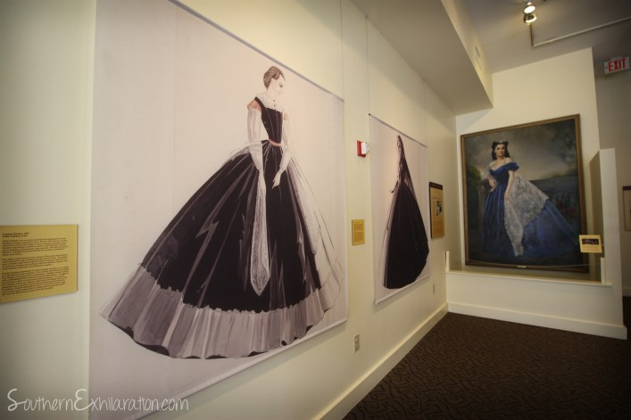 Southern Exhilaration: Margaret Mitchell House | Gone With The Wind Trail | Drawing of GWTW Costumes