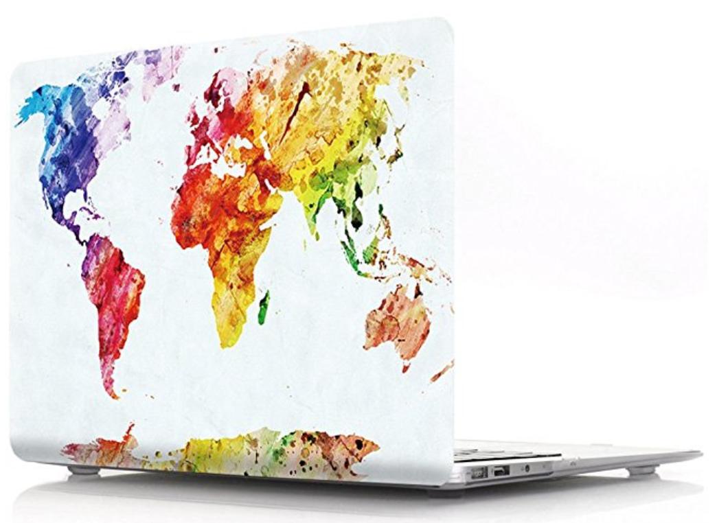 World Map Laptop Hard Case