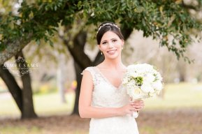 Beautiful Smiling Bride With Bouquet