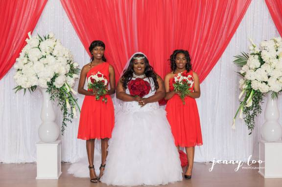 pauldo wedding with maids