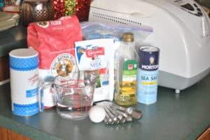 Ingredients for Bread Machine White Bread