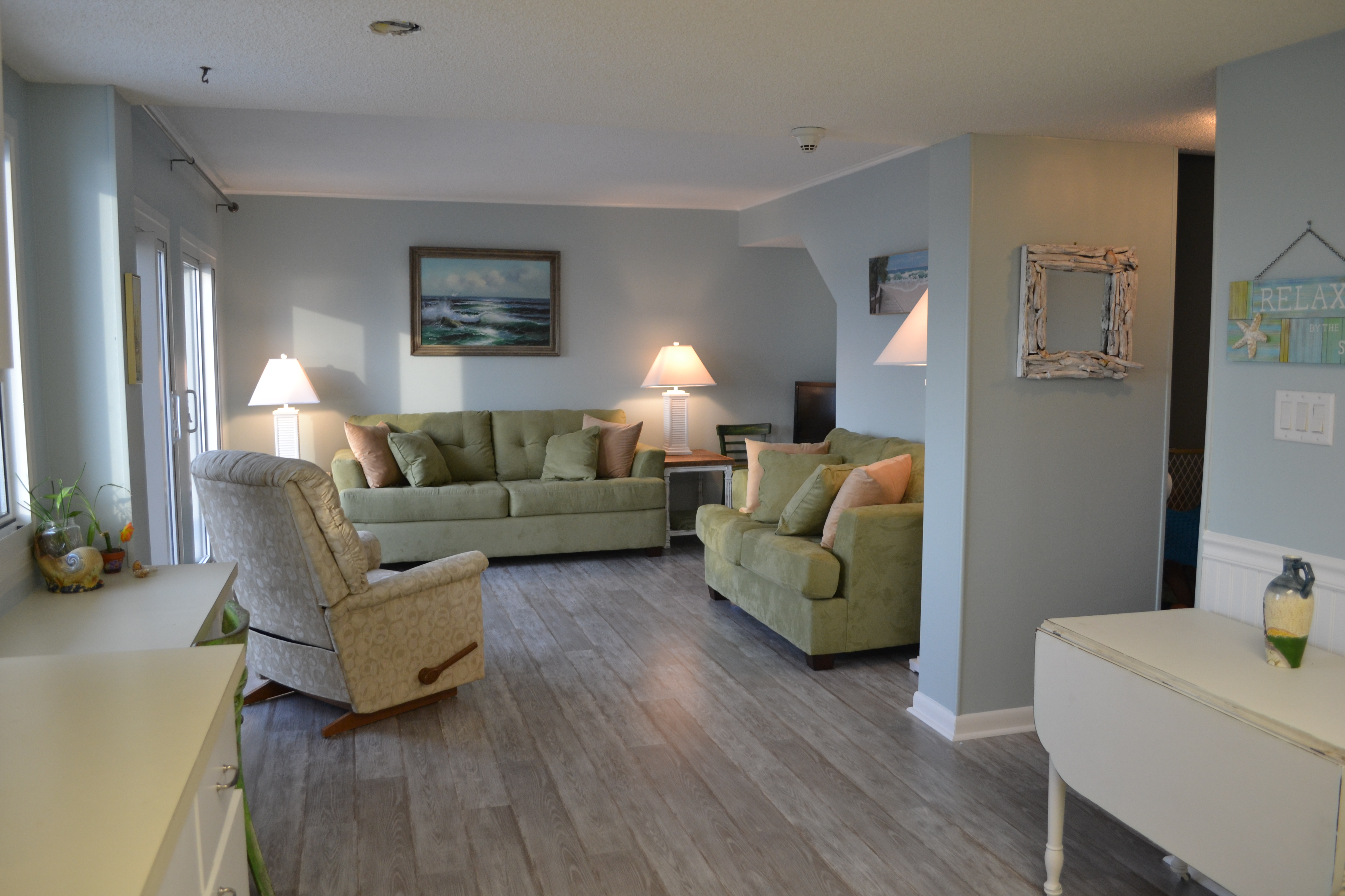 how to decorate a small living room with sofa and loveseat modern table legs don't wanna leave at jeanne stan's beach (at pinnacle ...