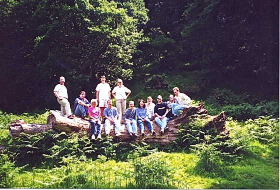 Group on a log