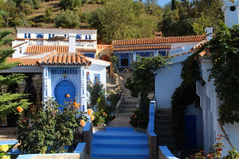 Dar Echchaouen, our Bed and Breakfast, was so worth $88 USD/$44 each per night.