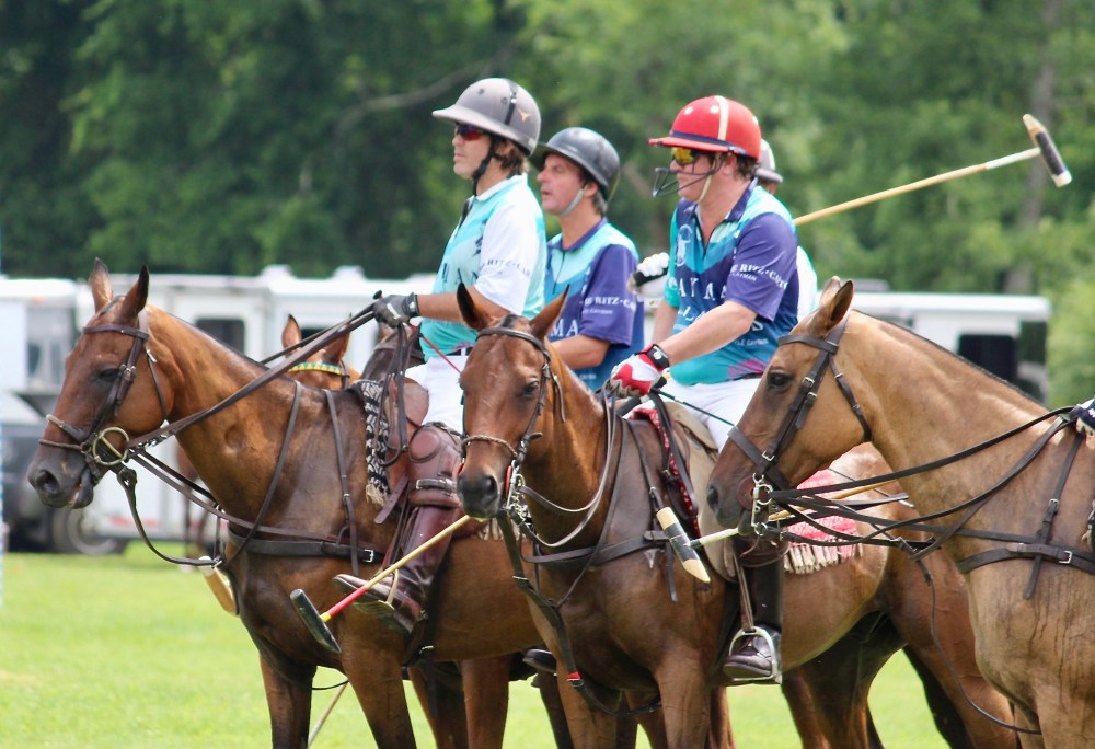 Polo players from Cayman Islands at Victory Cup