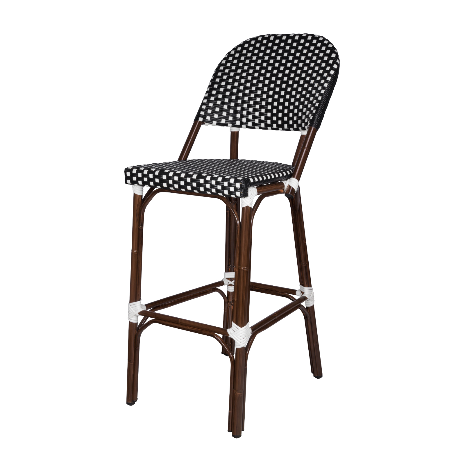 paris bistro chairs outdoor ez chair covers southern home bar stool black and white