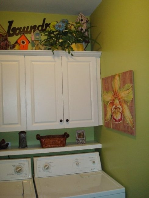 Cabinets decorated