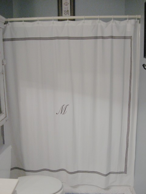A DIY Shower Curtain  Southern Hospitality