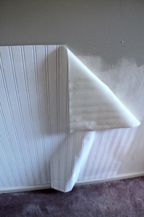 Chair Rail Light Switch Part - 38: ... Beadboard Wallpaper With Chairrail