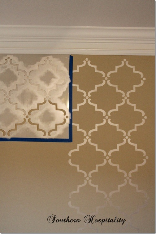How To Stencil A Wall Amp A Giveaway Southern Hospitality
