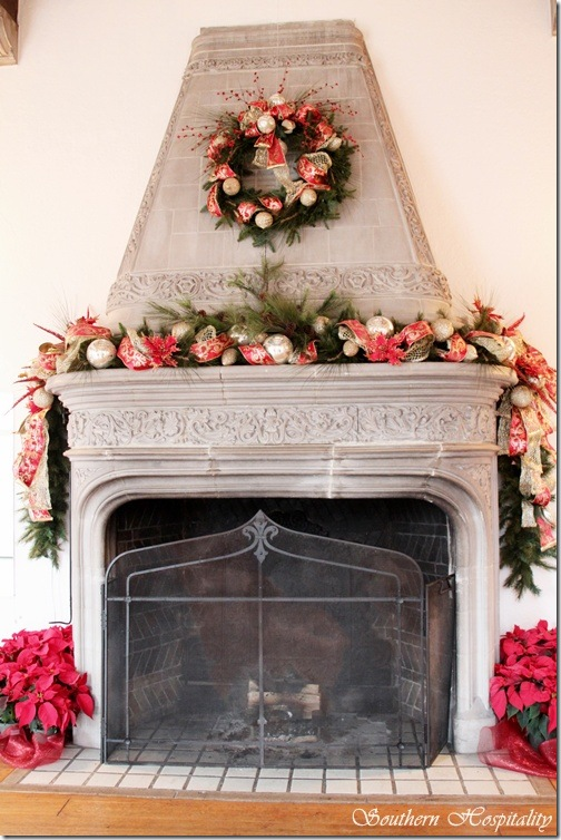 Winter LR fireplace
