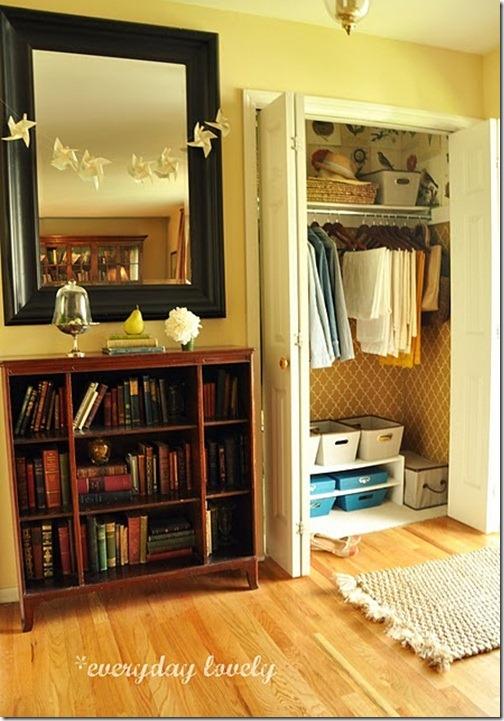 stenciled closet
