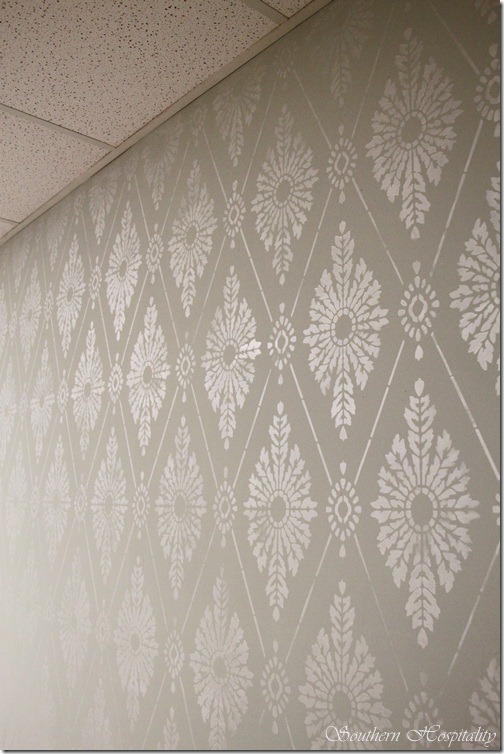 Diamond Damask Stencil HowTo Stencil a Wall  Southern