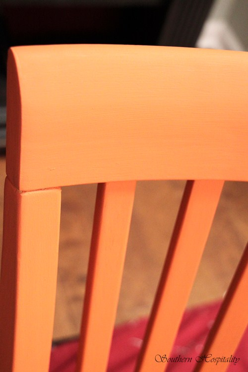 pop up chairs white chair covers for weddings in bulk easy diy projects on a dime: brightly painted furniture - southern hospitality