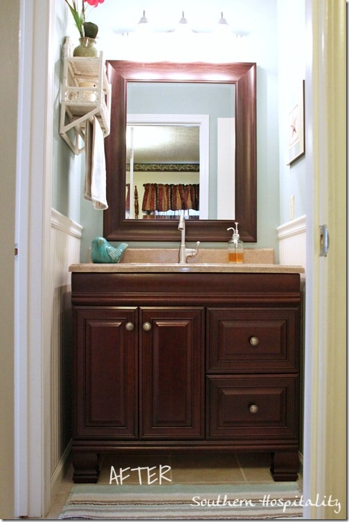 An Updated S Bathroom Southern Hospitality - 1970 bathroom remodel