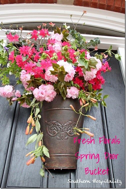 FLoral bucket front door