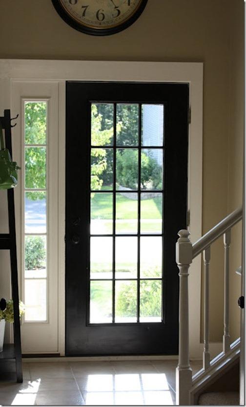 glass insert front door